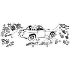 Badges - Sprite IV & Midget III, 1500cc