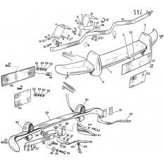 Bumpers & Number Plates Fittings - Sprite II-III & Midget I-II (1961-67)