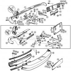 Rear Bumper & Fittings - Sprite IV & Midget III, 1500cc
