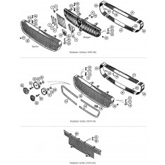 Grilles & Fittings - Sprite IV & Midget III, 1500cc