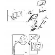 Mirrors & Fittings - Sprite I-III & Midget I-II (1958-67)