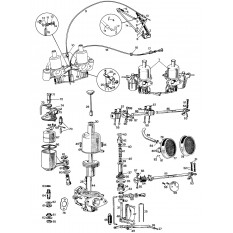 "Carburettors & Components - Twin 1 1/8"" H1 SU's - Sprite & Midget"