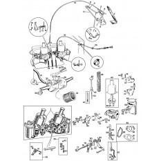 """Carburettors: Twin 1 1/4"""" HS2 SU's - Sprite I-III & Midget I-II (1958-66)"""