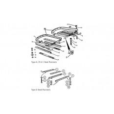 Seat Runners & Fittings - Sprite & Midget 948-1098cc (1958-66)