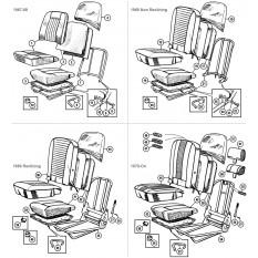 Seats, Frames & Fittings - Sprite & Midget 1275-1500cc (1967-79)