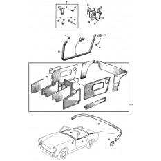 Interior Trim Kits - Sprite III & Midget II (1964-67)