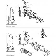 Front Hub & King Pin - Sprite I-III & Midget I-II (1958-66)