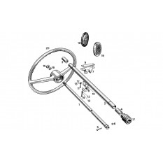 Steering Column & Wheels - Sprite I-III & Midget I-II (1958-66)