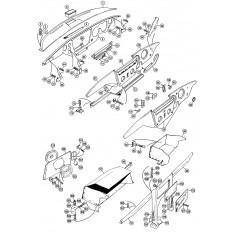Dashboard, Crashpads & Gloveboxes - Spitfire MkIV-1500 (1970-80)