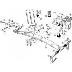 Rear Suspension: TR4A with Solid Rear Axle