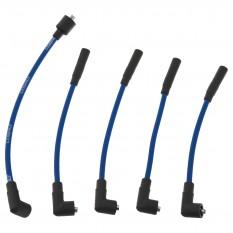 HT Lead Set, silicone, blue