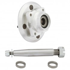 Alloy Hub, Stub Axle & Bearing Kit