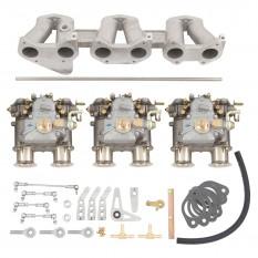 Carburettor Conversion Kit, Triple Weber 40 DCOE, fast road