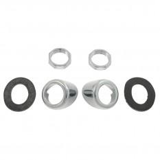 Bezel Kit, wiper wheelbox, chrome