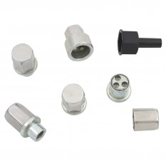 "Wheel Nut Set, locking, chrome, 3/8"" UNF, 4 piece"