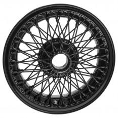 """Wire Wheel, black, 15"""" x 5.5"""" 72 spoke"""