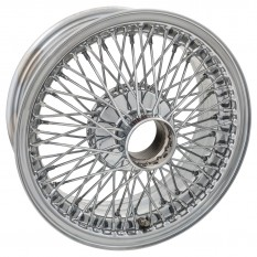 "Wire Wheel, chrome, 15"" x 6"", 72 spoke"