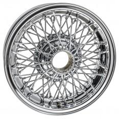 "Wire Wheel, chrome, 15"" x 5.5"", 72 spoke, tubeless"