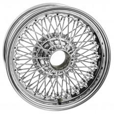 "Wire Wheel, chrome, 15"" x 6"", 72 spoke, centre lace"
