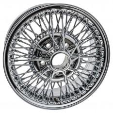 """Wire Wheel, chrome, 15"""" x 6.5"""", 70 spoke"""