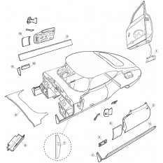 Rear Body Fittings - E-Type Coupe & 2+2 (1961-1971)