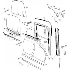 Exterior Door Fittings, Chrome & Glass - E-Type OTS & FHC (1961-1971)