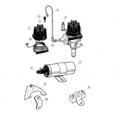 Distributor Accessories, six cylinder - E-Type (1961-1971)