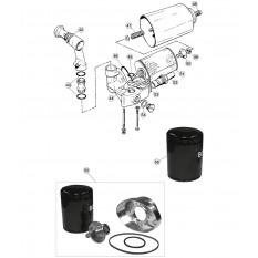 External Engine, V12, Oil Filter Assembly - E-Type (1971-1975)