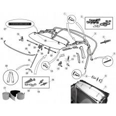 Hood Frame & Components - E-Type (1961-1975)