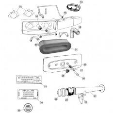 Air Cleaner Assembly, V12 - E-Type (1971-1975)