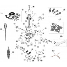 Zenith-Stromberg Carburettor Components - E-Type (1961-1975)