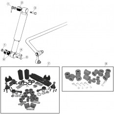 Front Suspension, shock absorber and bushes - E-Type (1971-1975)