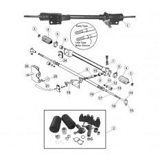 Steering Column, Manual Steering Rack - E-Type (1968-1975)