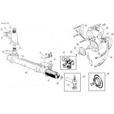 Steering Column, Power Steering - E-Type (1971-1975)