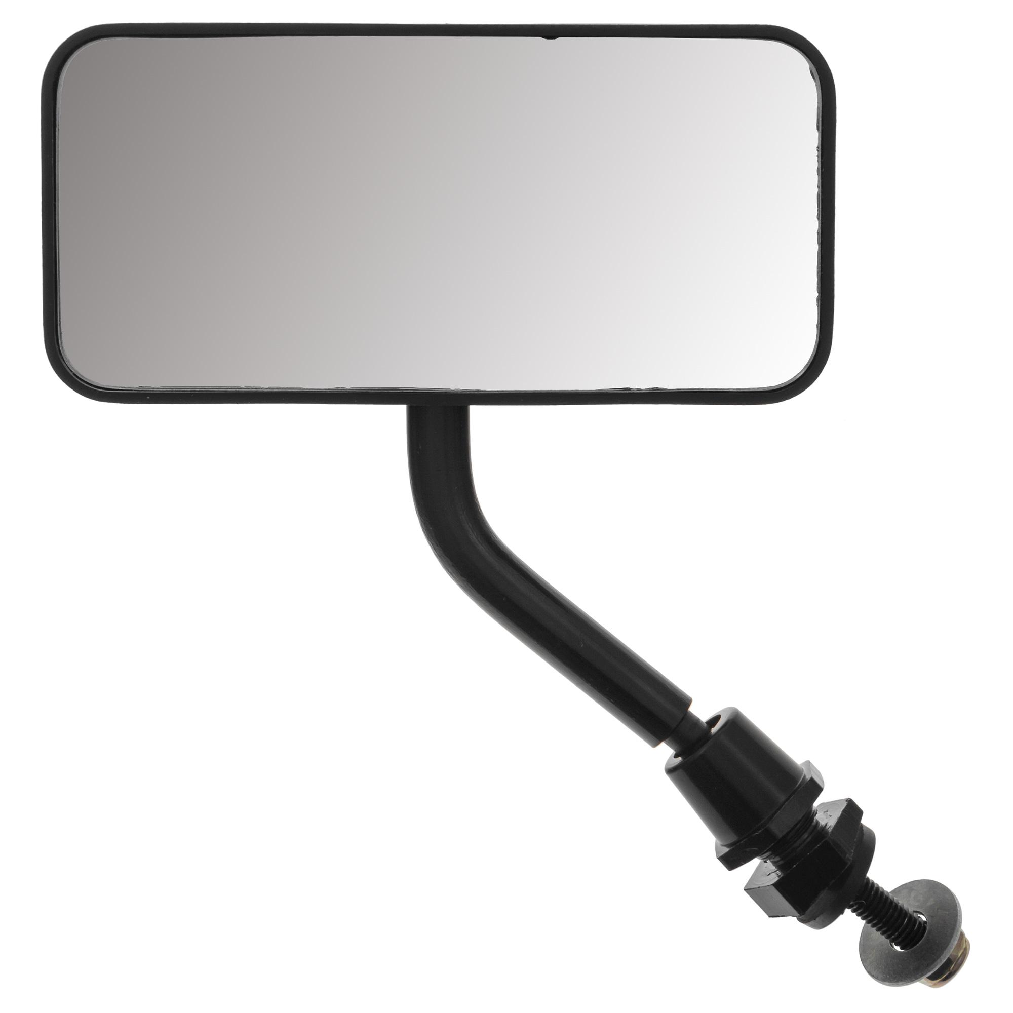 Flat door mirror 112x52mm Body 115x55x52mm F1 style Black Left//Right mounting