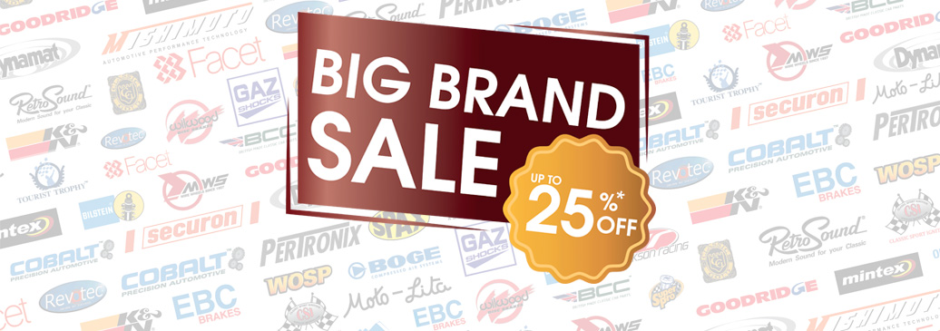 Save up to 25% on over 5000 parts and accessories from our big name brands!