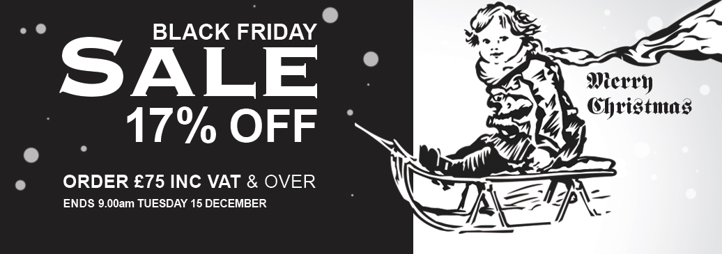 *Black Friday Sale! Save 17% on orders of £75.00 including vat and over!