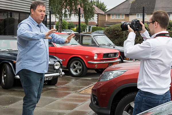 Mike Brewer starts filming at Moss for #ProjectMGA