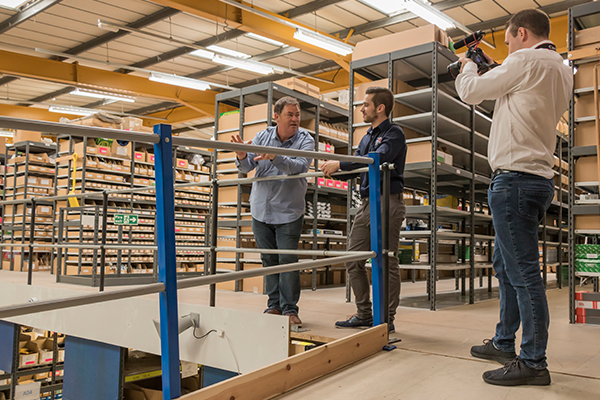 Mike Brewer explores our warehouse