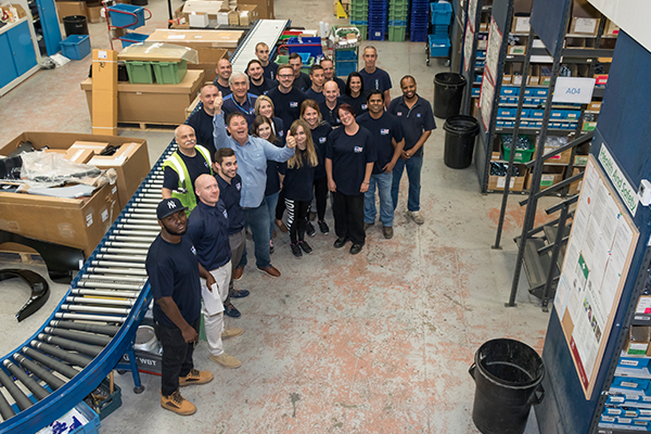 Mike Brewer and the moss Europe Distribution Team