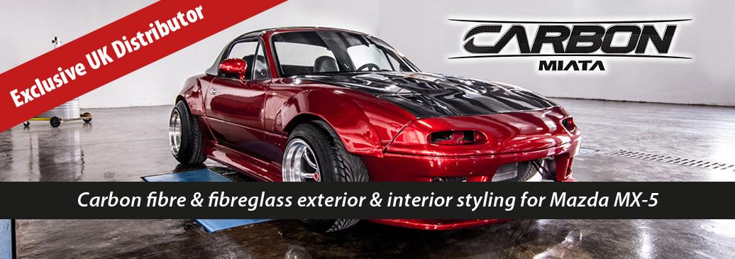 CarbonMiata carbon fibre & fibreglass exterior & interior styling