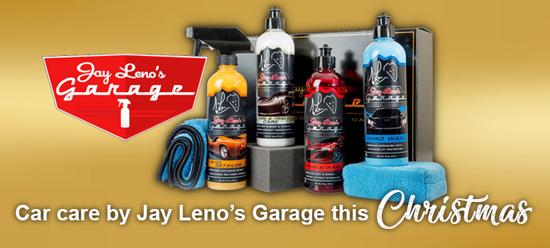 View our range of car care products by Jay Leno's Garage this Christmas