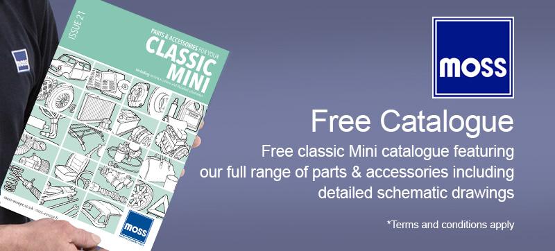 Free classic Mini parts & accessories catalogues