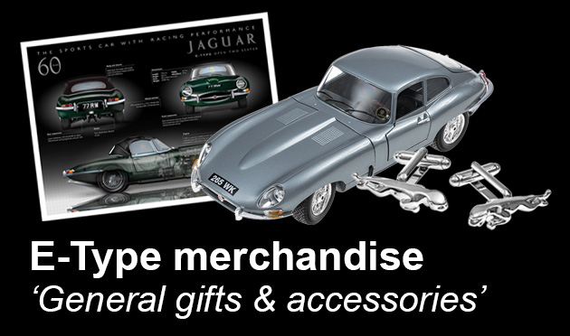 E-Type Jaguar gifts & general accessories