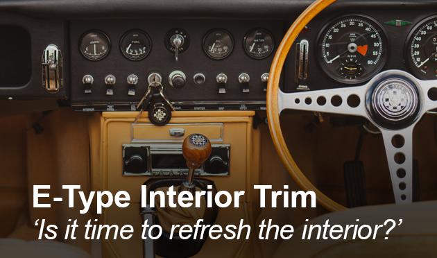 Interior trim for the E-Type 1961-1974