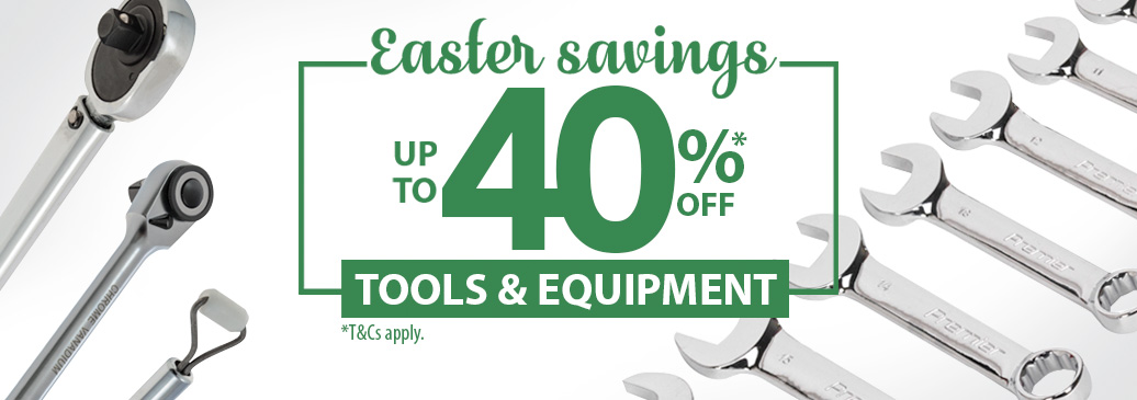 Save up to 40% across our range of Tools and Equipment this Easter!