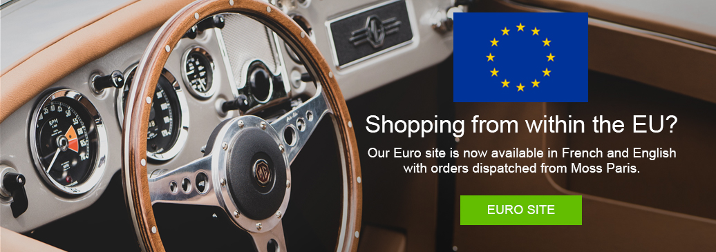 Euro site now available in French & English, orders dispatched from Paris branch