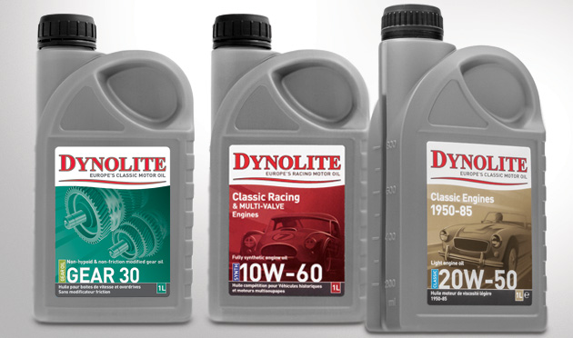 Dynolite Europe's Classic Motor Oil, specially formulated for Classic and Vintage cars