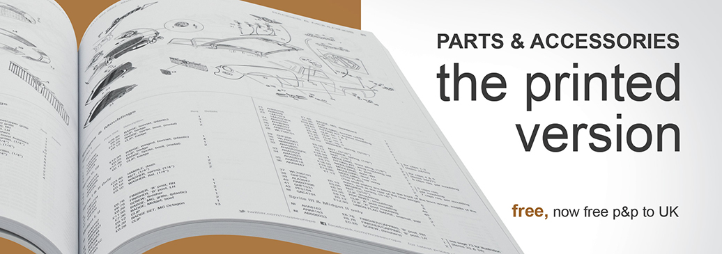 Our Free Parts Catalogues are now shipped free to all UK destinations