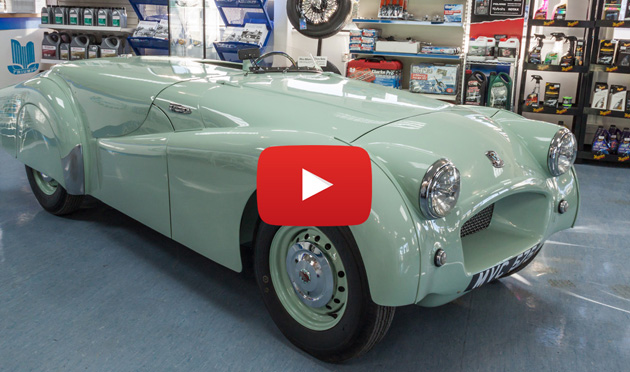 Watch the video of TR2 MVC 575 at the Birmingham NEC which is now on display in the Moss London showroom